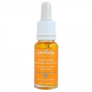 Starflower and Grapeseed Beauty Oil - Nourishes and soothes tight, dry Skin - Night Time for Dry Skin